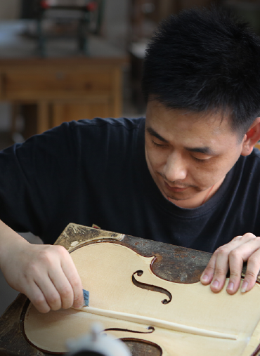 master violin maker Lelio Pan